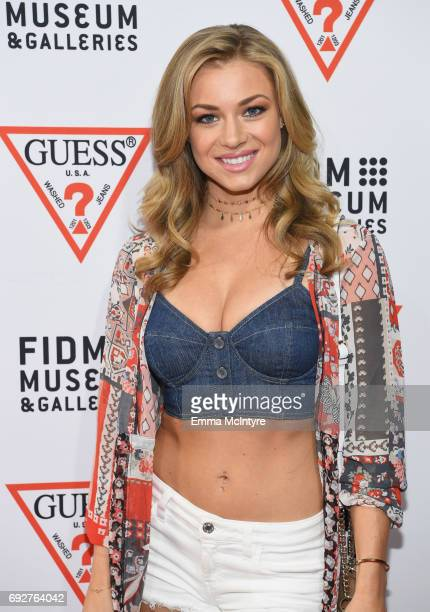 Actress Nikki Leigh at GUESS Celebrates 35 Years with Opening of Exhibition at the FIDM Museum Galleries at FIDM Museum Galleries on the Park on June...