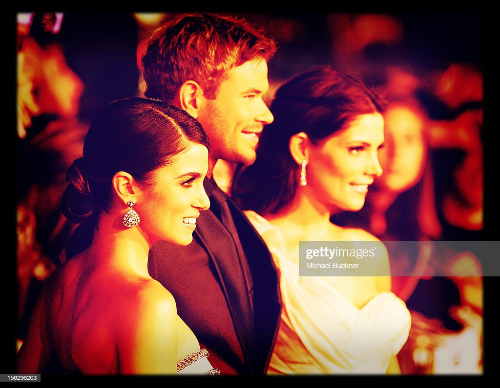 Actress <a gi-track='captionPersonalityLinkClicked' href=/galleries/search?phrase=Nikki+Reed&family=editorial&specificpeople=220844 ng-click='$event.stopPropagation()'>Nikki Reed</a>, actor <a gi-track='captionPersonalityLinkClicked' href=/galleries/search?phrase=Kellan+Lutz&family=editorial&specificpeople=683287 ng-click='$event.stopPropagation()'>Kellan Lutz</a> and actress <a gi-track='captionPersonalityLinkClicked' href=/galleries/search?phrase=Ashley+Greene&family=editorial&specificpeople=781552 ng-click='$event.stopPropagation()'>Ashley Greene</a> arrive at the Summit Entertainment's 'The Twilight Saga: Breaking Dawn - Part 2' at Nokia Theatre L.A. Live on November 12, 2012 in Los Angeles, California.
