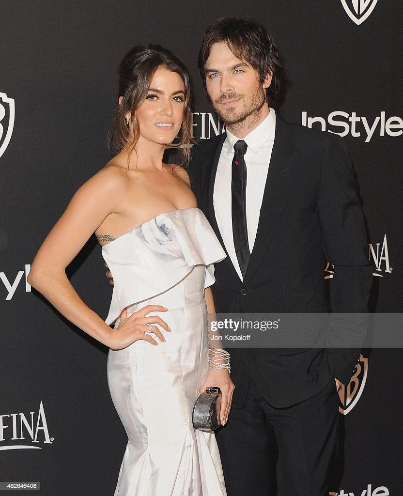 Actress Nikki Reed and actor Ian Somerhalder arrive at the 16th Annual Warner Bros And InStyle PostGolden Globe Party at The Beverly Hilton Hotel on...