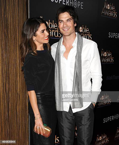 Actress Nikki Reed and actor Ian Somerhalder attend the 3rd annual Noble Awards at The Beverly Hilton Hotel on February 27 2015 in Beverly Hills...