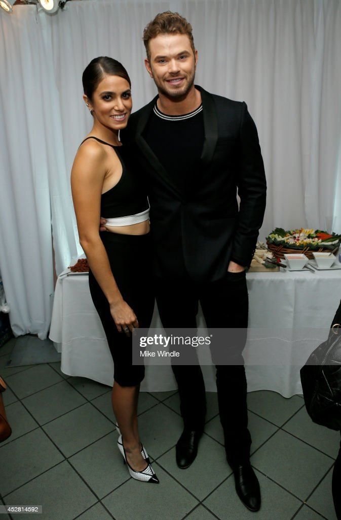 Actress <a gi-track='captionPersonalityLinkClicked' href=/galleries/search?phrase=Nikki+Reed&family=editorial&specificpeople=220844 ng-click='$event.stopPropagation()'>Nikki Reed</a> (L) and actor <a gi-track='captionPersonalityLinkClicked' href=/galleries/search?phrase=Kellan+Lutz&family=editorial&specificpeople=683287 ng-click='$event.stopPropagation()'>Kellan Lutz</a> in the green room at the 2014 Young Hollywood Awards brought to you by Samsung Galaxy at The Wiltern on July 27, 2014 in Los Angeles, California. The Young Hollywood Awards will air on Monday, July 28 8/7c on The CW.