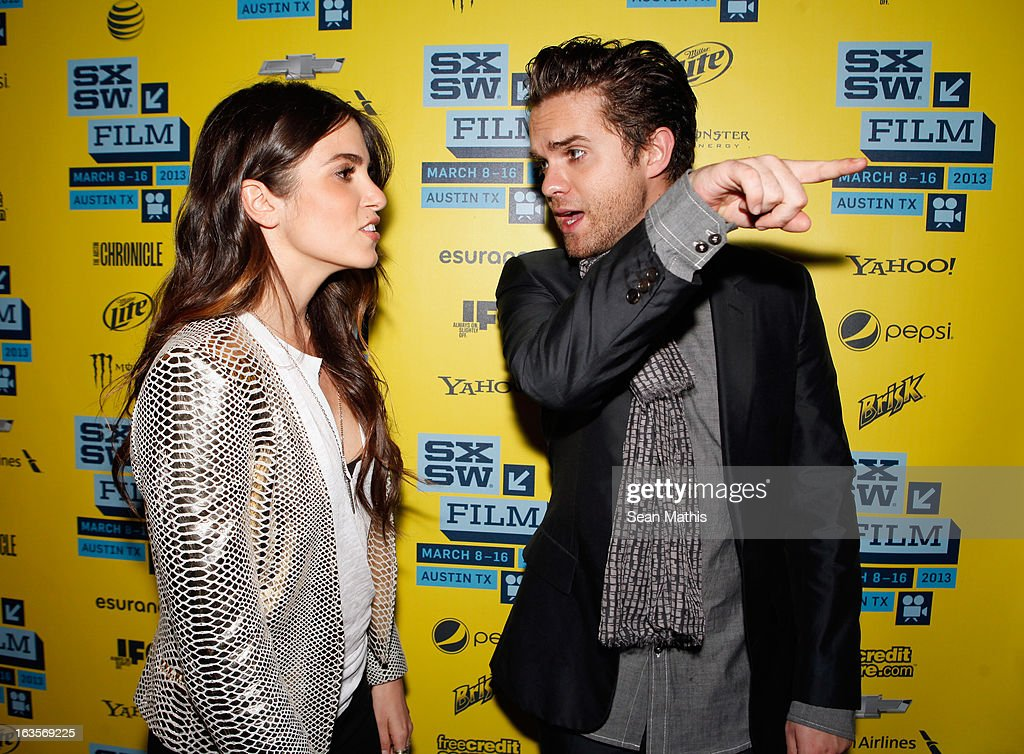 Actress <a gi-track='captionPersonalityLinkClicked' href=/galleries/search?phrase=Nikki+Reed&family=editorial&specificpeople=220844 ng-click='$event.stopPropagation()'>Nikki Reed</a> and actor Thomas Dekker pose in the greenroom at the screening of 'Snap' during the 2013 SXSW Music, Film + Interactive Festival at Alamo Ritz on March 11, 2013 in Austin, Texas.