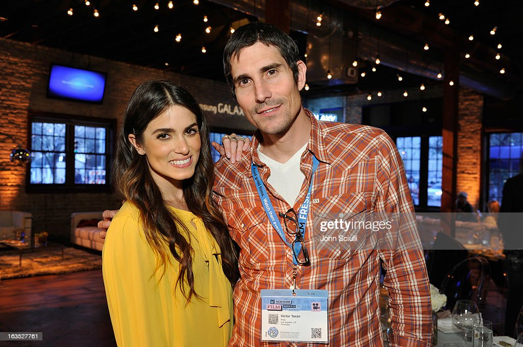 Actress <a gi-track='captionPersonalityLinkClicked' href=/galleries/search?phrase=Nikki+Reed&family=editorial&specificpeople=220844 ng-click='$event.stopPropagation()'>Nikki Reed</a> and director Victor Teran attend the 'Snap' cast dinner hosted by The Samsung Galaxy Experience at SXSW 2013 on March 11, 2013 in Austin, Texas.