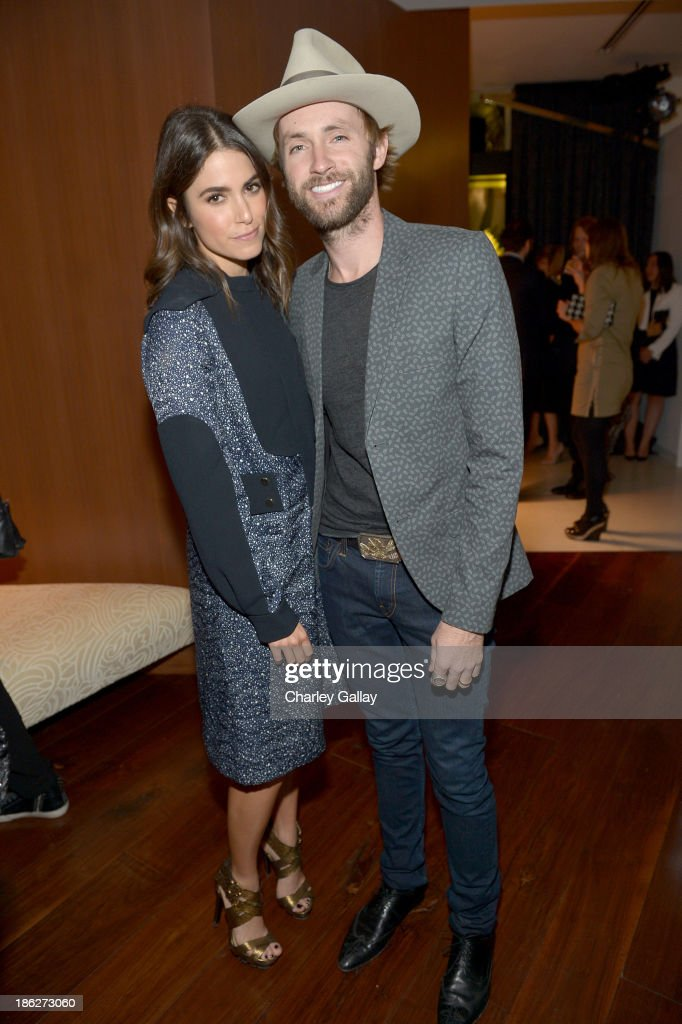 Actress Nikki Reed and musician Paul McDonald attend Chloe Los Angeles Fashion Show Dinner hosted by Clare Waight Keller January Jones and Lisa Love...