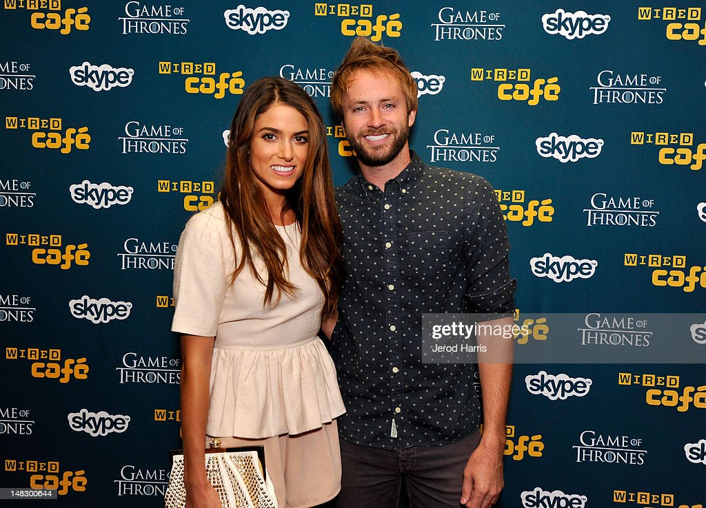 Actress <a gi-track='captionPersonalityLinkClicked' href=/galleries/search?phrase=Nikki+Reed&family=editorial&specificpeople=220844 ng-click='$event.stopPropagation()'>Nikki Reed</a> and musician <a gi-track='captionPersonalityLinkClicked' href=/galleries/search?phrase=Paul+McDonald+-+Musician&family=editorial&specificpeople=7644167 ng-click='$event.stopPropagation()'>Paul McDonald</a> attend WIRED Cafe At Comic-Con held at Palm Terrace at the Omni Hotel on July 13, 2012 in San Diego, California.