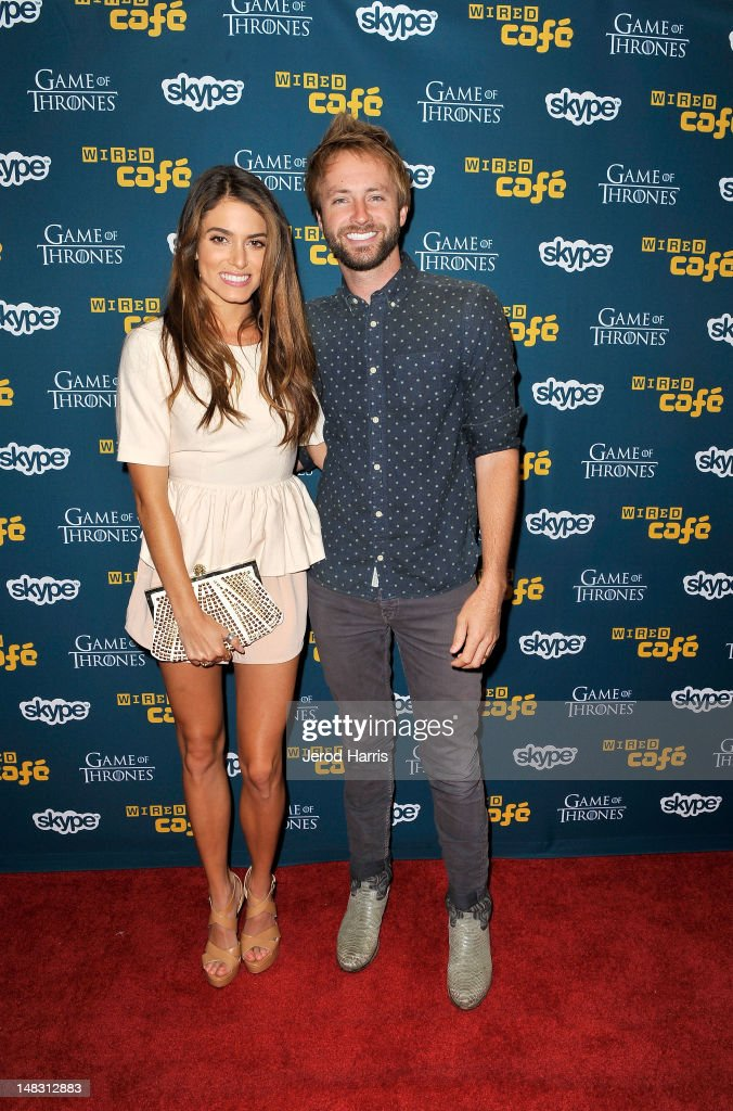 Actress <a gi-track='captionPersonalityLinkClicked' href=/galleries/search?phrase=Nikki+Reed&family=editorial&specificpeople=220844 ng-click='$event.stopPropagation()'>Nikki Reed</a> and musician Paul McDonald attend WIRED Cafe At Comic-Con held at Palm Terrace at the Omni Hotel on July 13, 2012 in San Diego, California.
