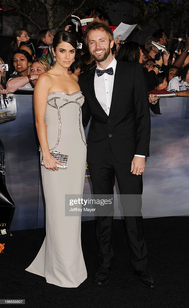 Actress Nikki Reed and singer Paul McDonald arrive at 'The Twilight Saga: Breaking Dawn - Part 2' Los Angeles premiere at Nokia Theatre L.A. Live on November 12, 2012 in Los Angeles, California.