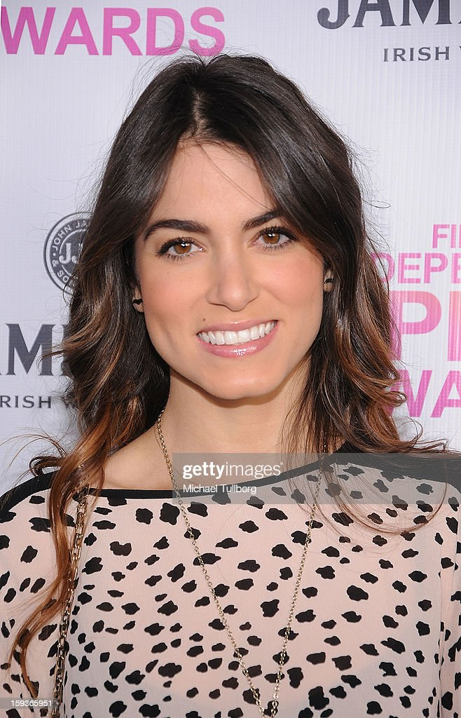 Actress <a gi-track='captionPersonalityLinkClicked' href=/galleries/search?phrase=Nikki+Reed&family=editorial&specificpeople=220844 ng-click='$event.stopPropagation()'>Nikki Reed</a> arrives at a brunch honoring the nominees for the 2013 Film Independent Filmmaker Grant and Spirit Awards at BOA Steakhouse on January 12, 2013 in West Hollywood, California.