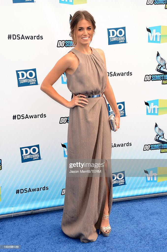 Actress <a gi-track='captionPersonalityLinkClicked' href=/galleries/search?phrase=Nikki+Reed&family=editorial&specificpeople=220844 ng-click='$event.stopPropagation()'>Nikki Reed</a> arrives at the 2012 Do Something Awards at Barker Hangar on August 19, 2012 in Santa Monica, California.