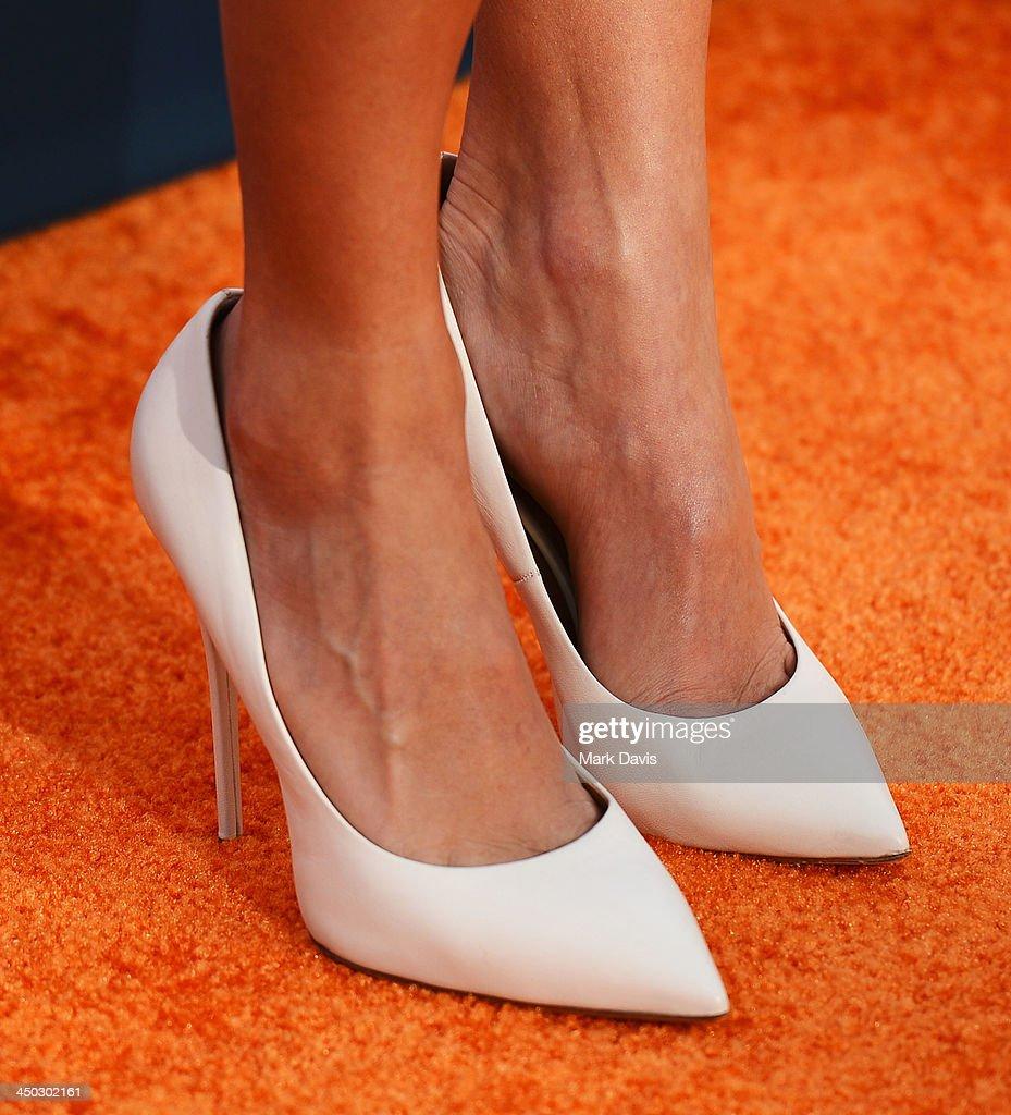 Actress Nikki Reed (shoe detail) arrives at the 5th Annual TeenNick HALO Awards at Hollywood Palladium on November 17, 2013 in Hollywood, California.