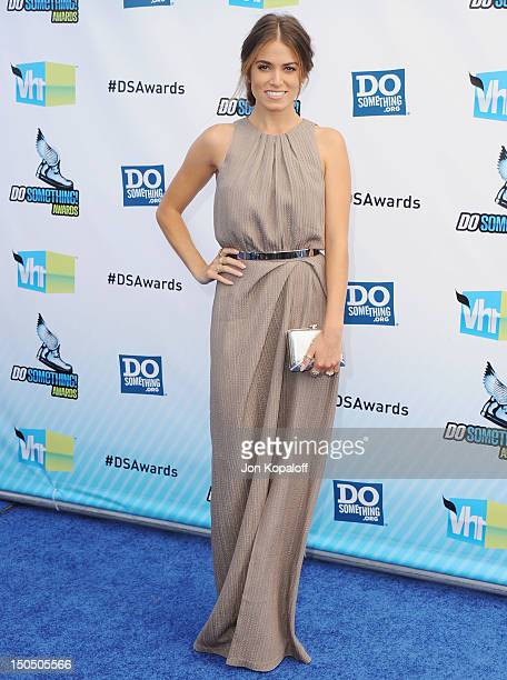 Actress Nikki Reed arrives at the DoSomethingorg And VH1's 2012 Do Something Awards at the Barker Hangar on August 19 2012 in Santa Monica California