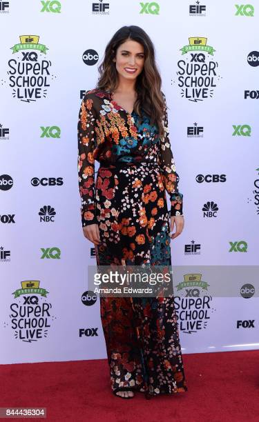 Actress Nikki Reed arrives at the EIF Presents XQ Super School Live event at The Barker Hanger on September 8 2017 in Santa Monica California