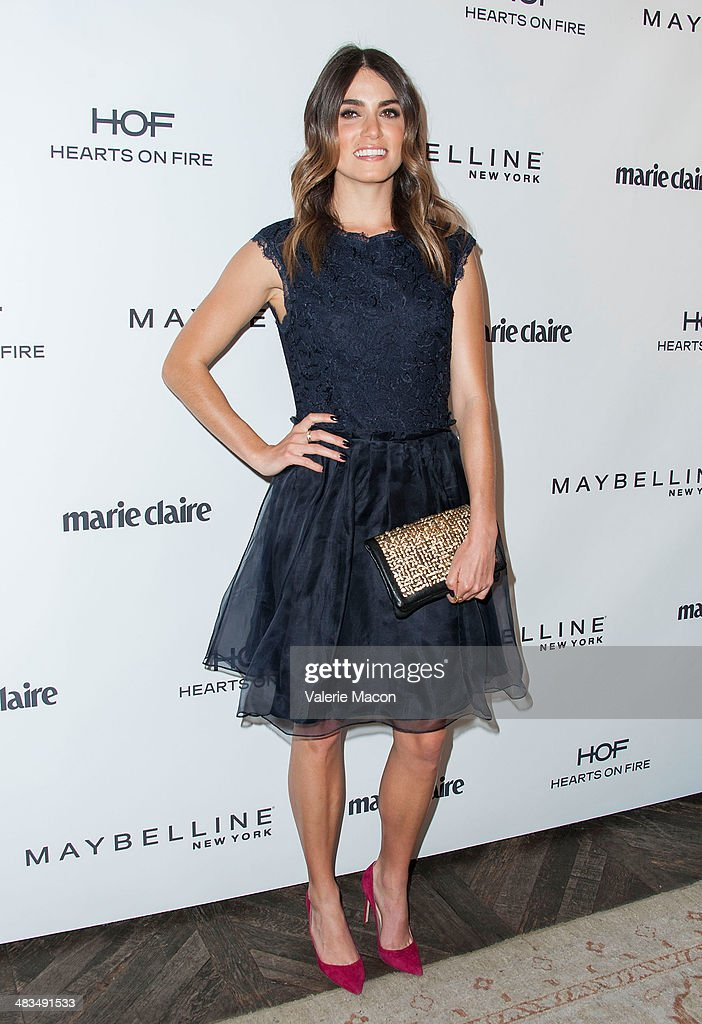 Actress <a gi-track='captionPersonalityLinkClicked' href=/galleries/search?phrase=Nikki+Reed&family=editorial&specificpeople=220844 ng-click='$event.stopPropagation()'>Nikki Reed</a> arrives at the Marie Claire's Fresh Faces Party at Soho House on April 8, 2014 in West Hollywood, California.