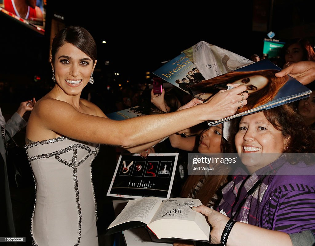 Actress Nikki Reed arrives at 'The Twilight Saga: Breaking Dawn - Part 2' Los Angeles premiere at Nokia Theatre L.A. Live on November 12, 2012 in Los Angeles, California.