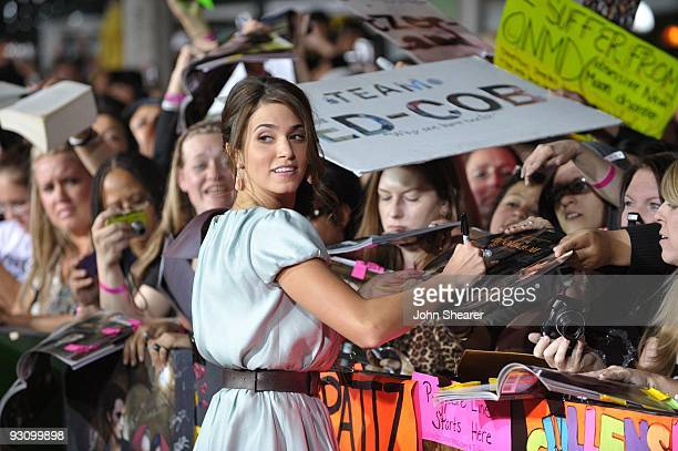 Actress Nikki Reed arrives at 'The Twilight Saga New Moon' premiere held at the Mann Village Theatre on November 16 2009 in Westwood California