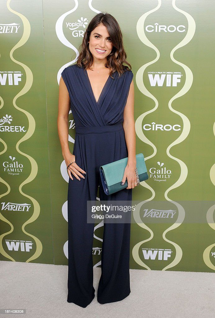 Actress <a gi-track='captionPersonalityLinkClicked' href=/galleries/search?phrase=Nikki+Reed&family=editorial&specificpeople=220844 ng-click='$event.stopPropagation()'>Nikki Reed</a> arrives at the Variety and Women In Film Pre-Emmy Party at Scarpetta on September 20, 2013 in Beverly Hills, California.