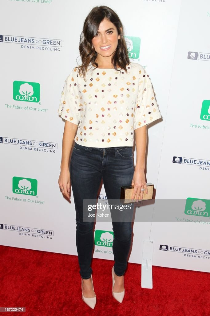 Actress <a gi-track='captionPersonalityLinkClicked' href=/galleries/search?phrase=Nikki+Reed&family=editorial&specificpeople=220844 ng-click='$event.stopPropagation()'>Nikki Reed</a> attends Blue Jeans go green celebrates 1 Million pieces of denim collected for recycling hosted by Miles Teller at SkyBar at the Mondrian Los Angeles on November 6, 2013 in West Hollywood, California.