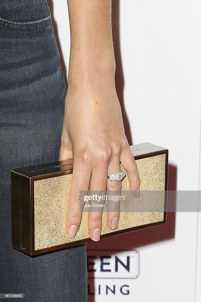 Actress <a gi-track='captionPersonalityLinkClicked' href=/galleries/search?phrase=Nikki+Reed&family=editorial&specificpeople=220844 ng-click='$event.stopPropagation()'>Nikki Reed</a> (purce and ring detail) attends Blue Jeans go green celebrates 1 Million pieces of denim collected for recycling hosted by Miles Teller at SkyBar at the Mondrian Los Angeles on November 6, 2013 in West Hollywood, California.