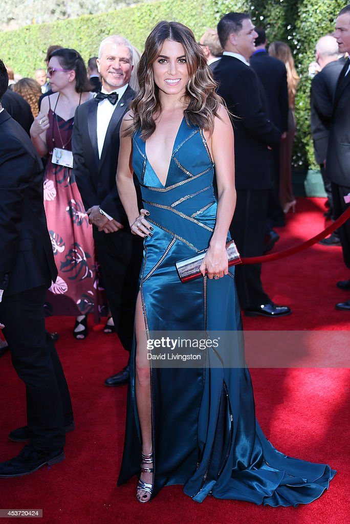Actress <a gi-track='captionPersonalityLinkClicked' href=/galleries/search?phrase=Nikki+Reed&family=editorial&specificpeople=220844 ng-click='$event.stopPropagation()'>Nikki Reed</a> attends the 2014 Creative Arts Emmy Awards at the Nokia Theatre L.A. Live on August 16, 2014 in Los Angeles, California.