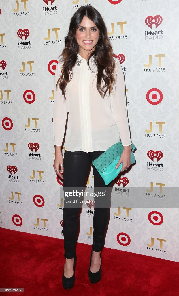 Actress Nikki Reed attends the iHeartRadio '20/20' album release party with Justin Timberlake presented by Target at the El Rey Theatre on March 18...
