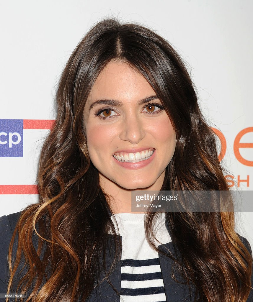 Actress <a gi-track='captionPersonalityLinkClicked' href=/galleries/search?phrase=Nikki+Reed&family=editorial&specificpeople=220844 ng-click='$event.stopPropagation()'>Nikki Reed</a> attends the Joe Fresh at jcp launch event at Joe Fresh at jcp Pop Up on March 7, 2013 in Los Angeles, California.