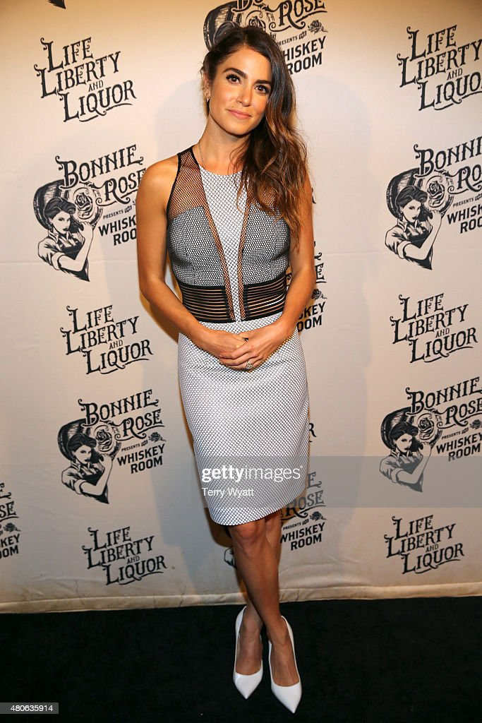 Actress Nikki Reed attends the product launch of Bonnie Rose a new Tennessee white whiskey on July 13 2015 in Nashville Tennessee
