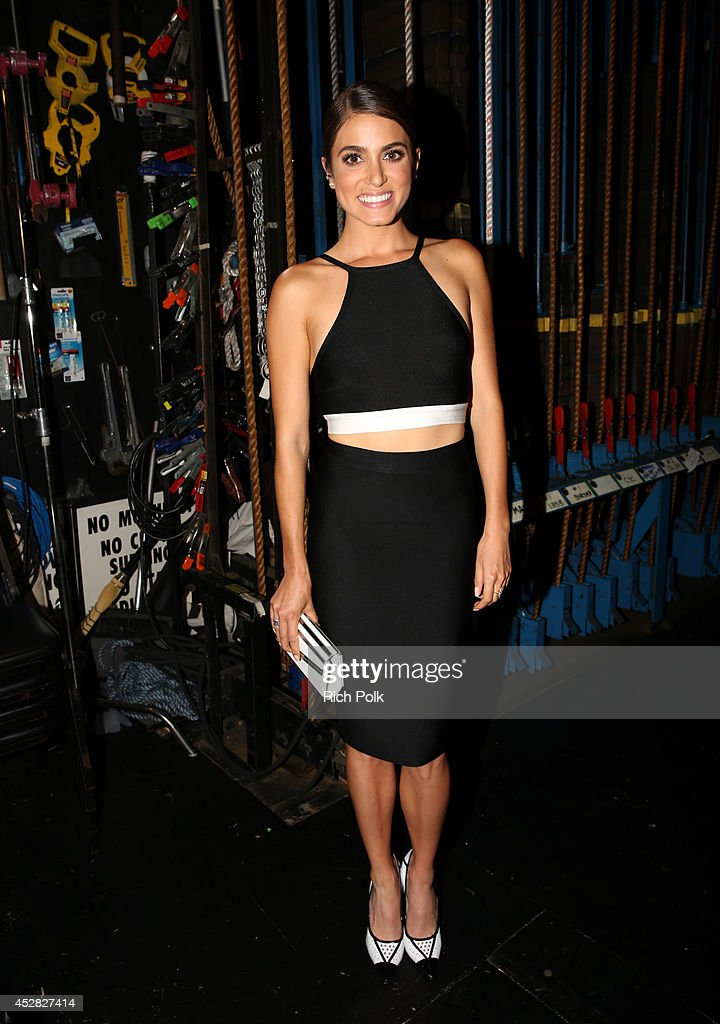 Actress Nikki Reed backstage at the 2014 Young Hollywood Awards brought to you by Samsung Galaxy at The Wiltern on July 27 2014 in Los Angeles...