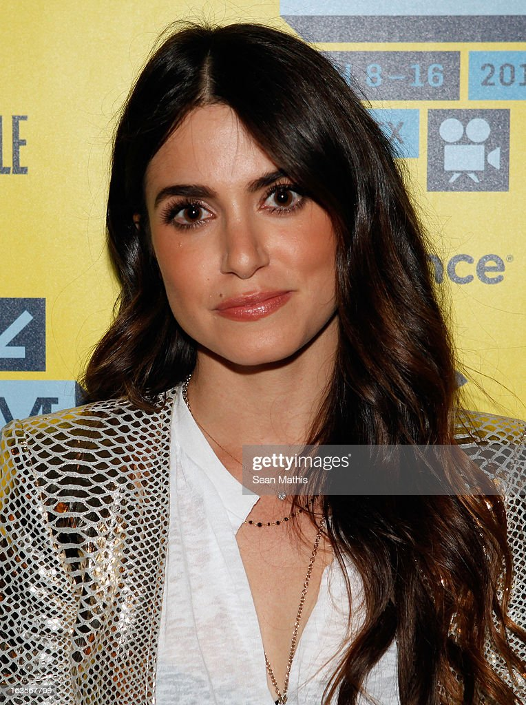 Actress <a gi-track='captionPersonalityLinkClicked' href=/galleries/search?phrase=Nikki+Reed&family=editorial&specificpeople=220844 ng-click='$event.stopPropagation()'>Nikki Reed</a> poses in the greenroom at the screening of 'Snap' during the 2013 SXSW Music, Film + Interactive Festival at Alamo Ritz on March 11, 2013 in Austin, Texas.