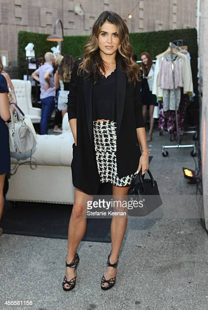 Actress Nikki Reed wearing Parking clothing and Stella and Bow jewelry attends The Launch of Parker on Spring at The A List on September 16 2014 in...