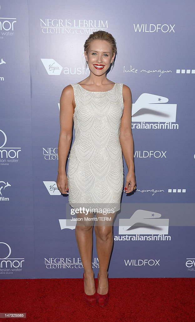 Actress Nikki Whelan arrives at Australians In Film Awards & Benefit Dinner at InterContinental Hotel on June 27, 2012 in Century City, California.