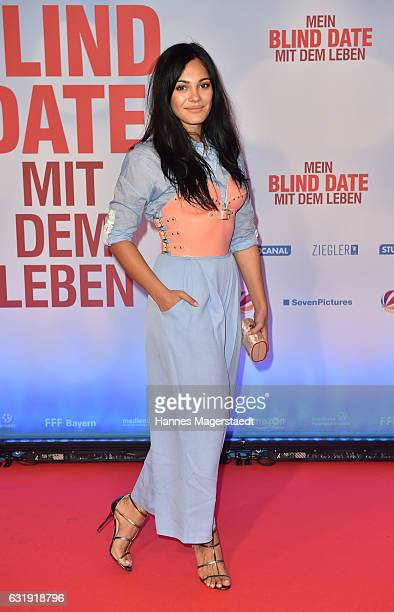 Actress Nilam Farooq during the 'Mein Blind Date mit dem Leben' Munich Premiere at Mathaeser Filmpalast on January 17 2017 in Munich Germany