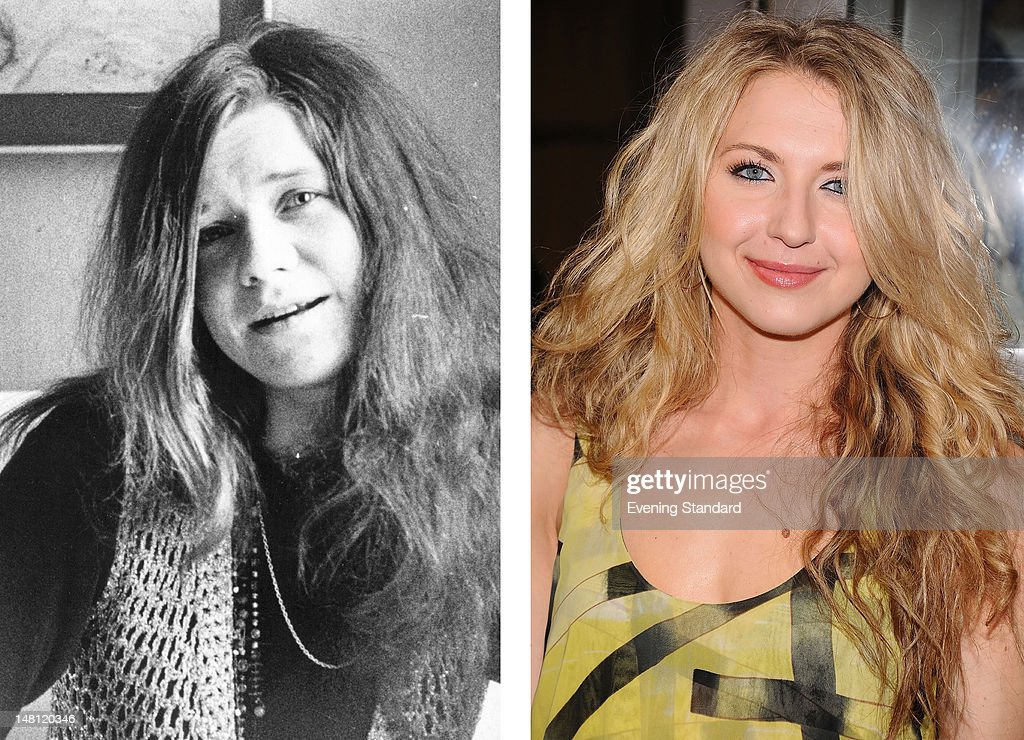 In this composite image a comparison has been made between Janis Joplin (L) and actress Nina Arianda. Tony winner Nina Arianda will reportedly play singer Janis Joplin in a film biopic of the last six months of the rock icon's life directed by Sean Durkin. NEW YORK, NY - JULY 07: Actress Nina Arianda attends the opening night of 'Master Class' on Broadway at Samuel J. Friedman Theatre on July 7, 2011 in New York City.