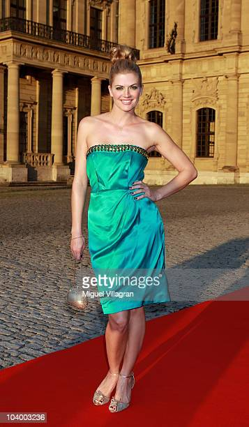 Actress Nina Bott poses on the red carpet at the Minx Fashion Menue 2010 on September 11 2010 in Wuerzburg Germany
