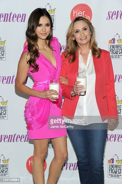 Actress Nina Dobrev and her mother Michaela Constantine attend the event where she launches 'Like Her Like Me' and searches for the next Mother...