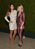 Actress Nina Dobrev and Tv personality/dancer Julianne Hough attend Claiborne Swanson Frank's Young Hollywood book launch hosted by Michael Kors at...