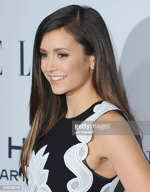 Actress Nina Dobrev arrives at ELLE's 6th Annual Women In Television Dinner at Sunset Tower Hotel on January 20 2016 in West Hollywood California