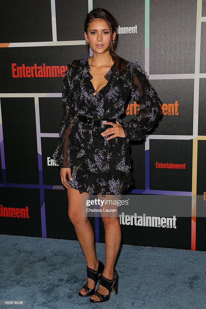 Actress <a gi-track='captionPersonalityLinkClicked' href=/galleries/search?phrase=Nina+Dobrev&family=editorial&specificpeople=4397485 ng-click='$event.stopPropagation()'>Nina Dobrev</a> arrives at Entertainment Weekly's Annual Comic Con Celebration at Float at Hard Rock Hotel San Diego on July 26, 2014 in San Diego, California.