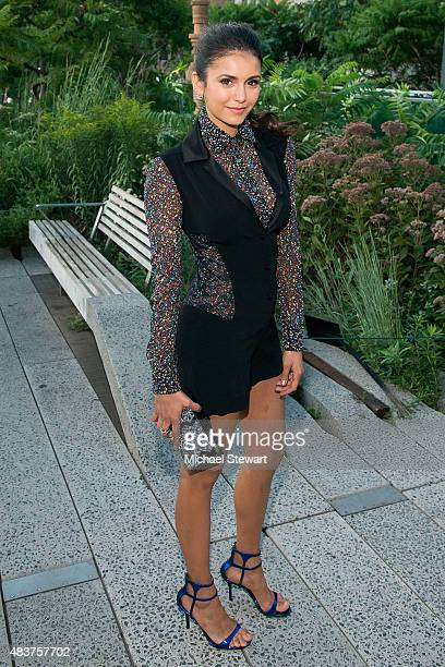Actress Nina Dobrev arrives at People StyleWatch Fall Fashion Party on August 12 2015 in New York City