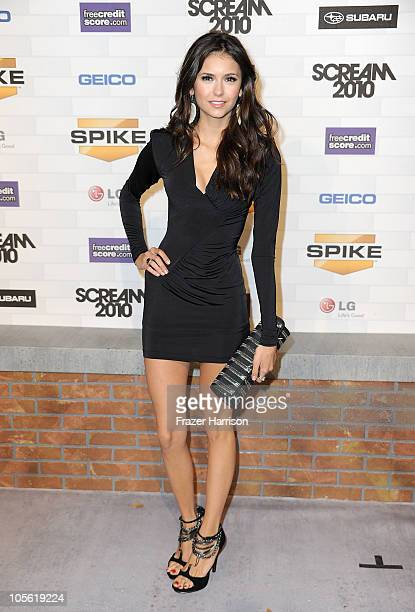 Actress Nina Dobrev arrives at Spike TV's 'Scream 2010' at The Greek Theatre on October 16 2010 in Los Angeles California