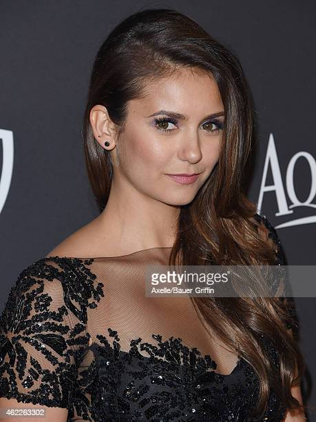 Actress Nina Dobrev arrives at the 16th Annual InStyle and Warner Bros Golden Globe AfterParty at The Beverly Hilton Hotel on January 11 2015 in...