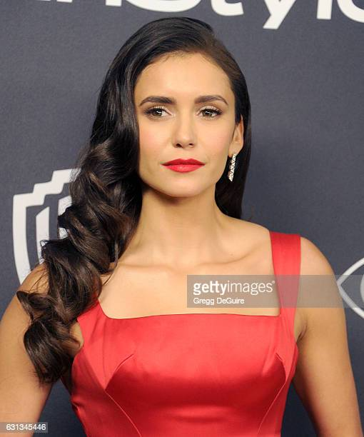 Actress Nina Dobrev arrives at the 18th Annual PostGolden Globes Party hosted by Warner Bros Pictures and InStyle at The Beverly Hilton Hotel on...