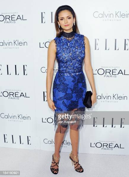 Actress Nina Dobrev arrives at the 19th Annual ELLE Women In Hollywood Celebration at the Four Seasons Hotel Los Angeles at Beverly Hills on October...