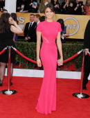 Actress Nina Dobrev arrives at the 19th Annual Screen Actors Guild Awards at The Shrine Auditorium on January 27 2013 in Los Angeles California