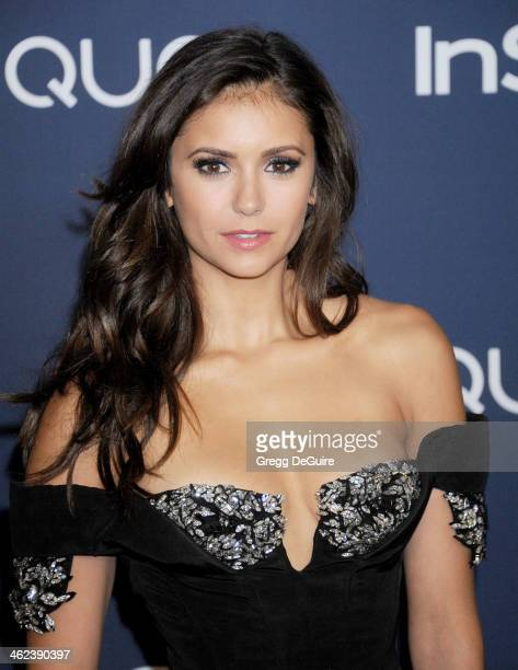 Actress Nina Dobrev arrives at the 2014 InStyle And Warner Bros 71st Annual Golden Globe Awards postparty at The Beverly Hilton Hotel on January 12...