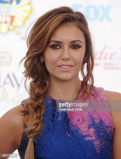 Actress Nina Dobrev arrives at the 2014 Teen Choice Awards at The Shrine Auditorium on August 10 2014 in Los Angeles California