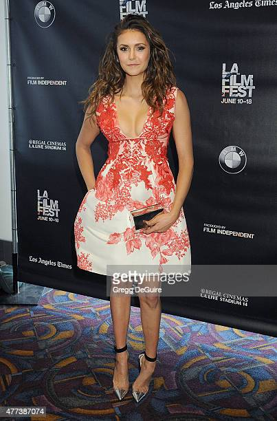 Actress Nina Dobrev arrives at the 2015 Los Angeles Film Festival screening of 'The Final Girls' at Regal Cinemas LA Live on June 16 2015 in Los...