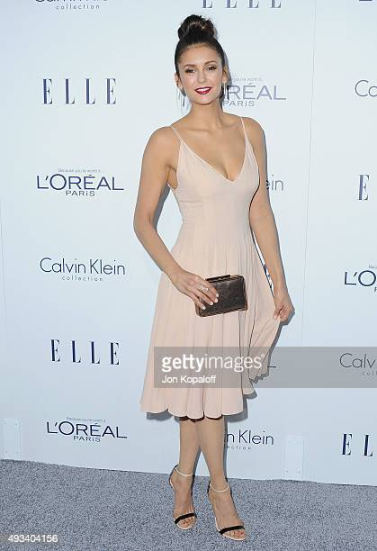 Actress Nina Dobrev arrives at the 22nd Annual ELLE Women In Hollywood Awards at Four Seasons Hotel Los Angeles at Beverly Hills on October 19 2015...