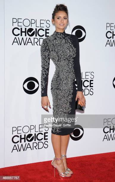 Actress Nina Dobrev arrives at The 40th Annual People's Choice Awards at Nokia Theatre LA Live on January 8 2014 in Los Angeles California