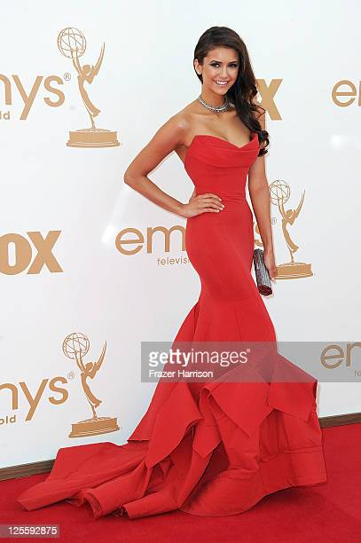 Actress Nina Dobrev arrives at the 63rd Annual Primetime Emmy Awards held at Nokia Theatre LA LIVE on September 18 2011 in Los Angeles California