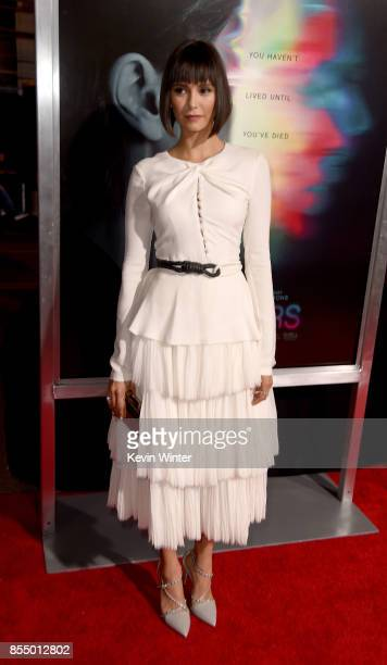 Actress Nina Dobrev arrives at the premiere of Columbia Pictures' 'Flatliners' at the Ace Theatre on September 27 2017 in Los Angeles California